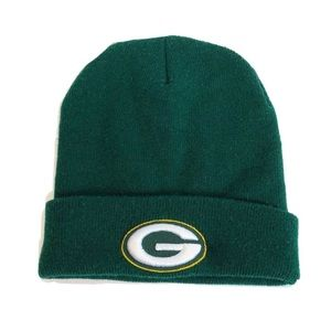Green Bay Packers Raised Cuff Knit Beanie Hat NFL